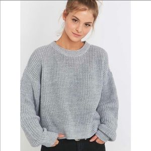 UO gray knit cropped sweater